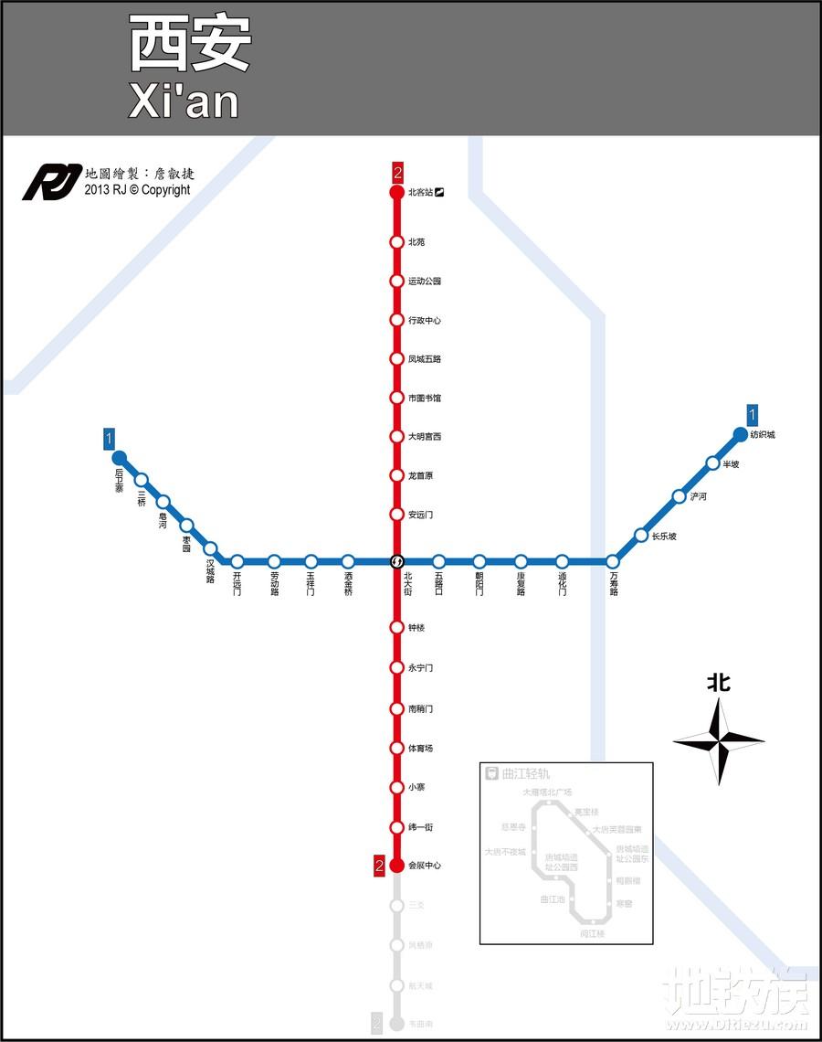 西安地铁线路图最新版