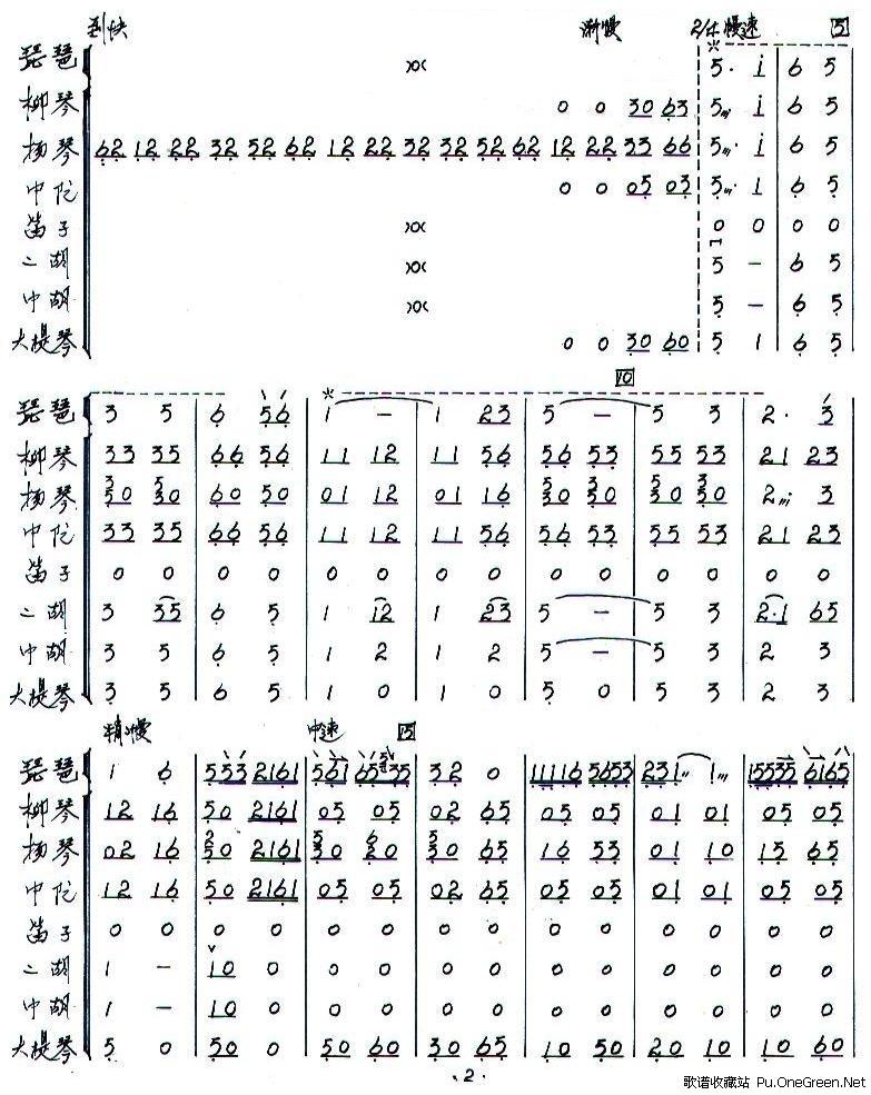 浏阳河总谱_总谱