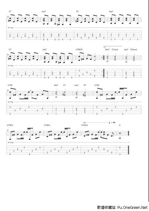 曲谱 吉他乐谱