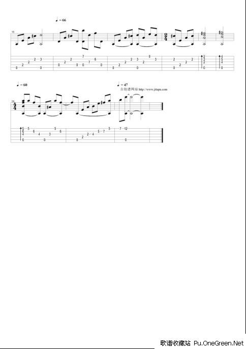 小小校歌_吉他乐谱