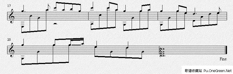 小城故事(吉他独奏谱)