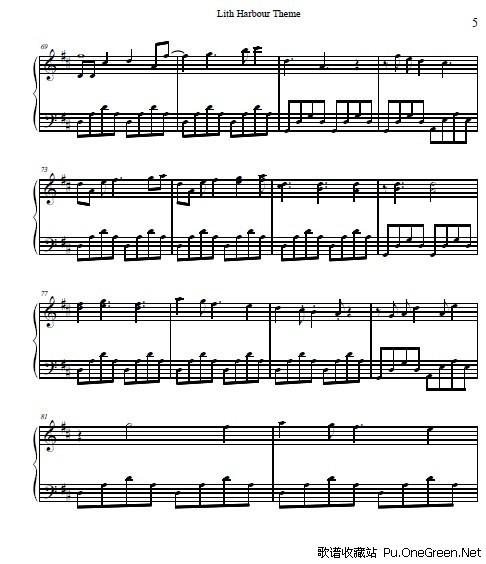 冒险岛_天空之城_钢琴乐谱