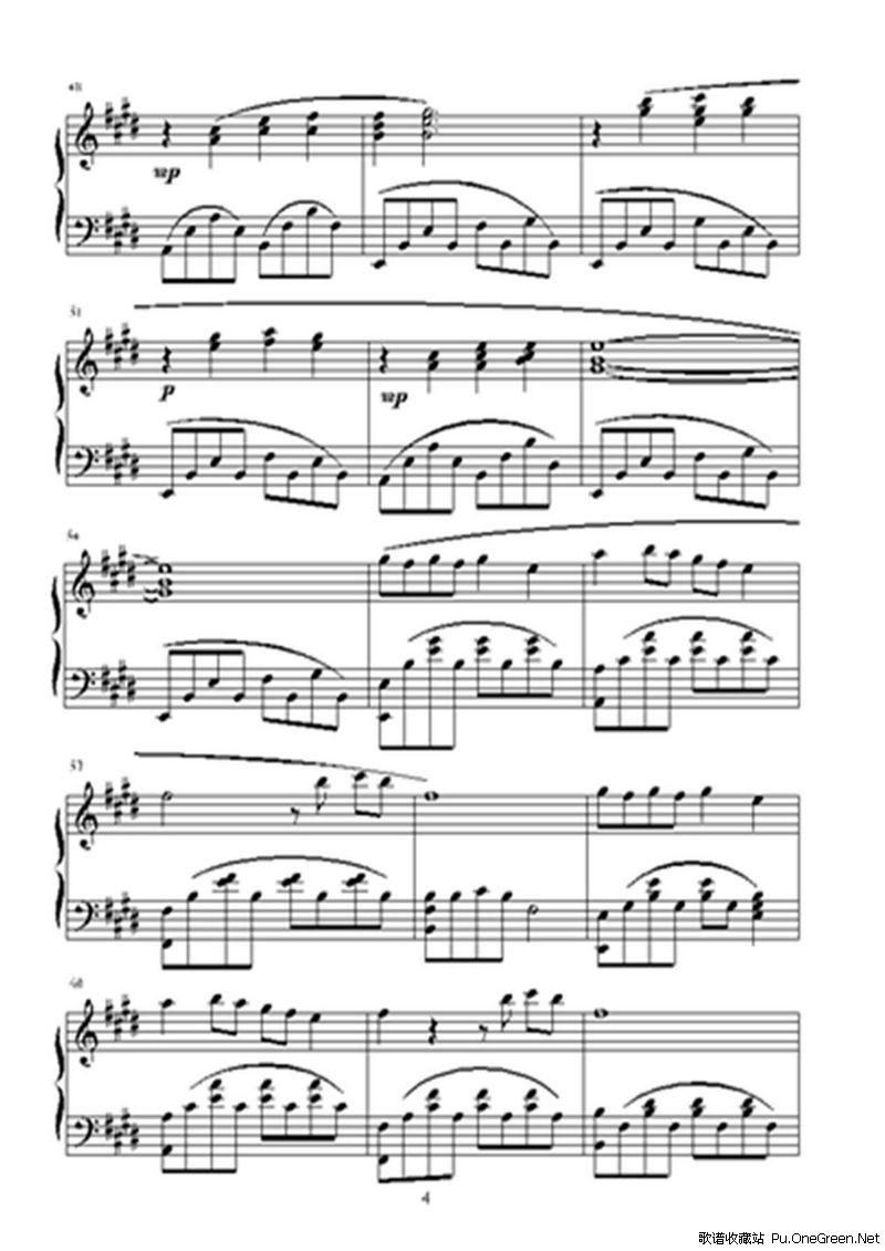 但愿人长久_钢琴乐谱