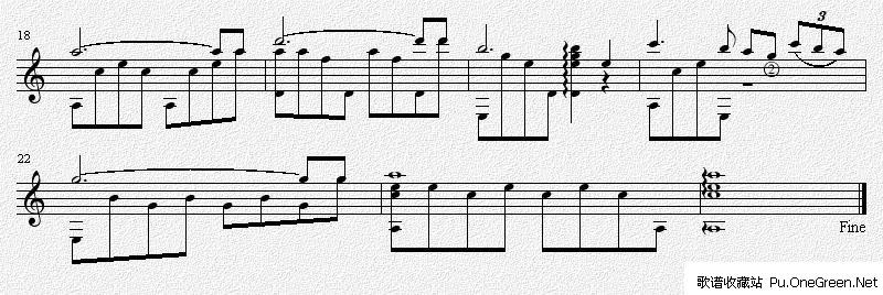 罗密欧与朱丽叶 吉他独奏谱(五线谱)