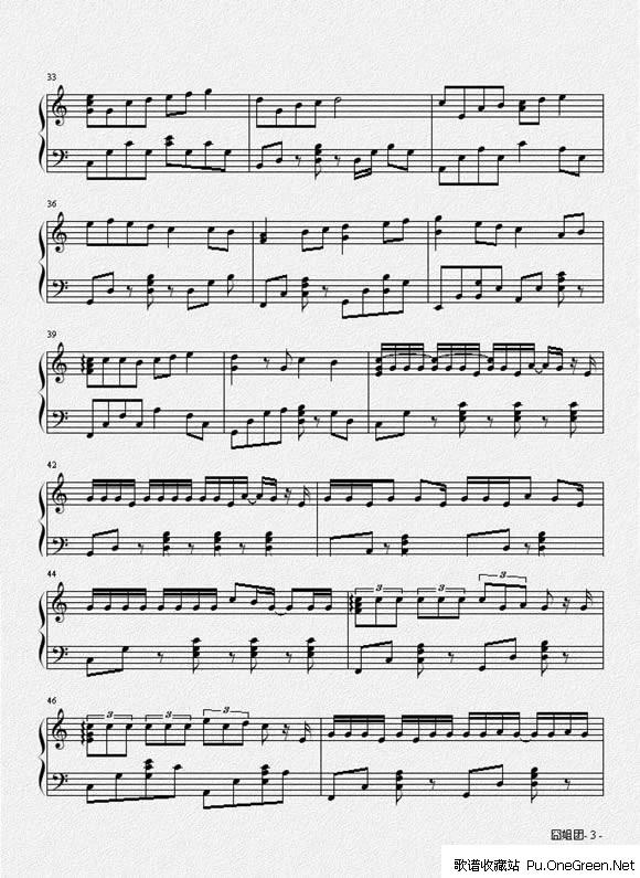 棉花糖_钢琴乐谱