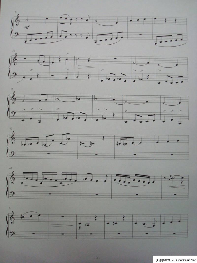 歌谱库 曲谱 钢琴乐谱 >> 正文