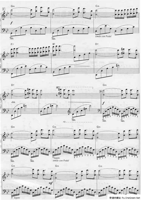 马航去的地方钢琴曲谱-给母亲的信 钢琴谱