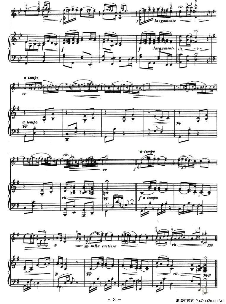 幽默曲 钢琴伴奏谱