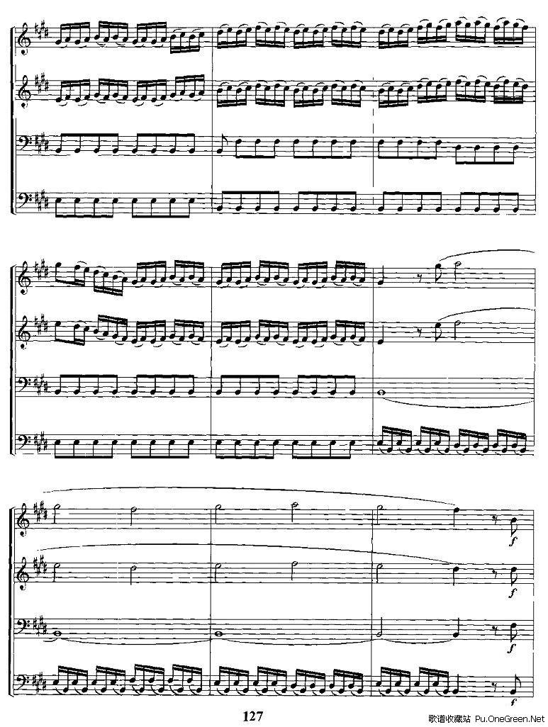 春(电子琴合奏总谱)
