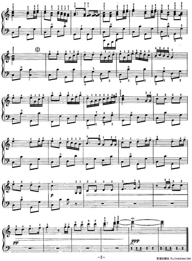 笛子曲游击队之歌曲谱-游击队歌