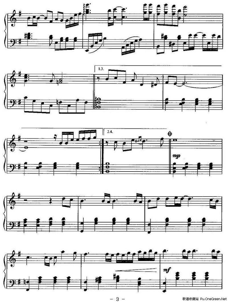 foreverlove钢琴简谱