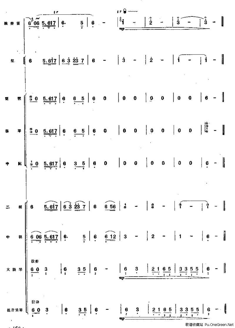 上一首歌谱: 江南小景之笛分谱 下一首歌谱