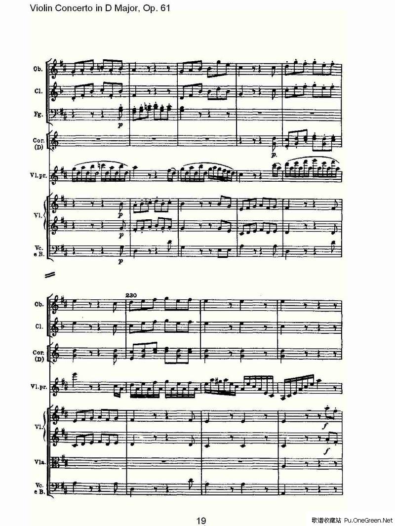 D大调小提琴协奏曲 Op.61第三乐章 二图片