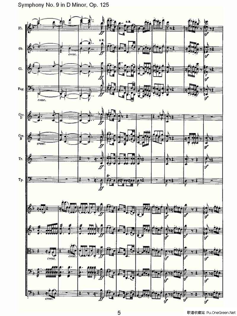 哨笛谱子d-Symphonies [交响曲]   Symphony No. 9 in D Minor, Op.125 (D小调第九