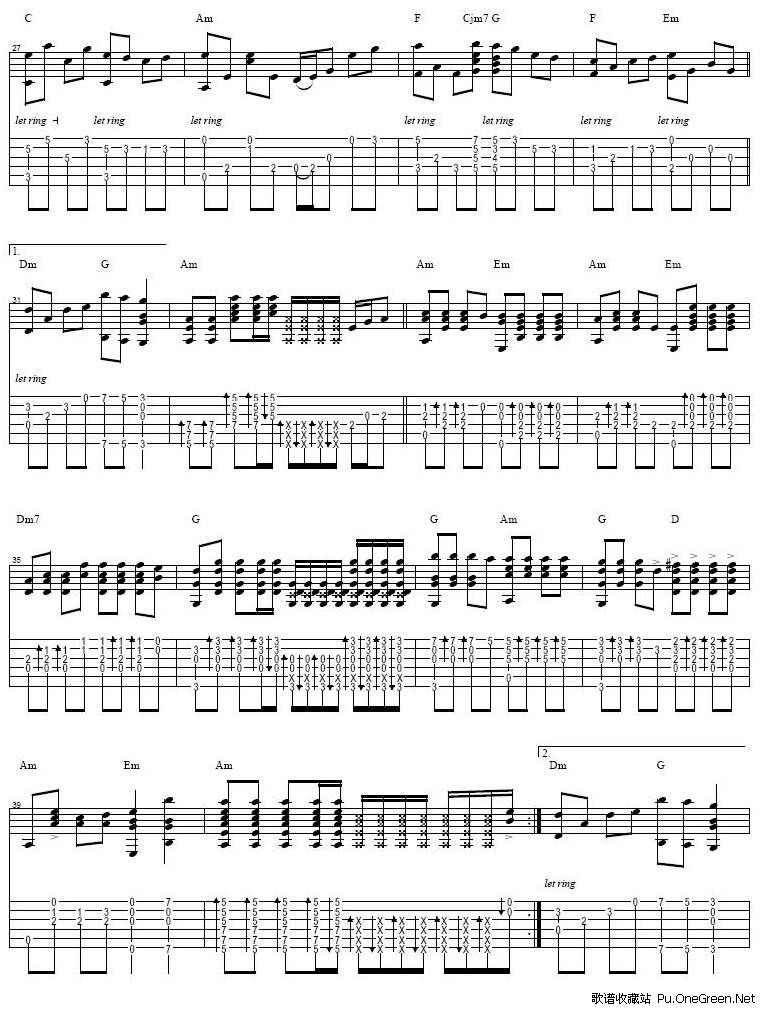 我的中国心 阿涛 吉他曲谱gtp版
