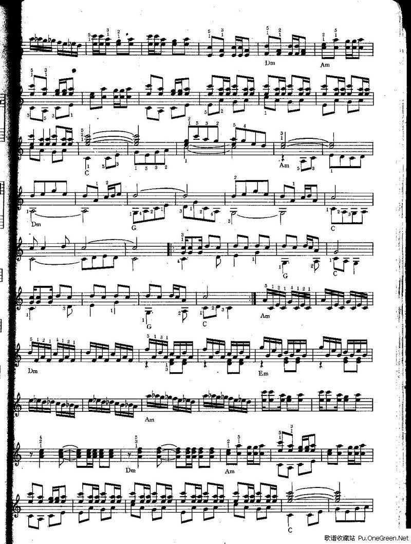 中级班电子琴乐谱)图片