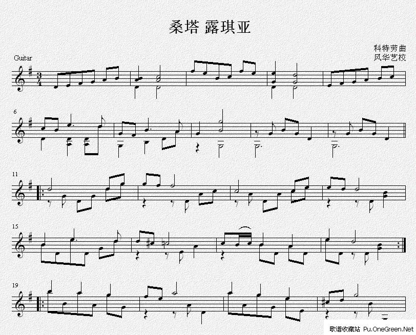time mkj五线谱