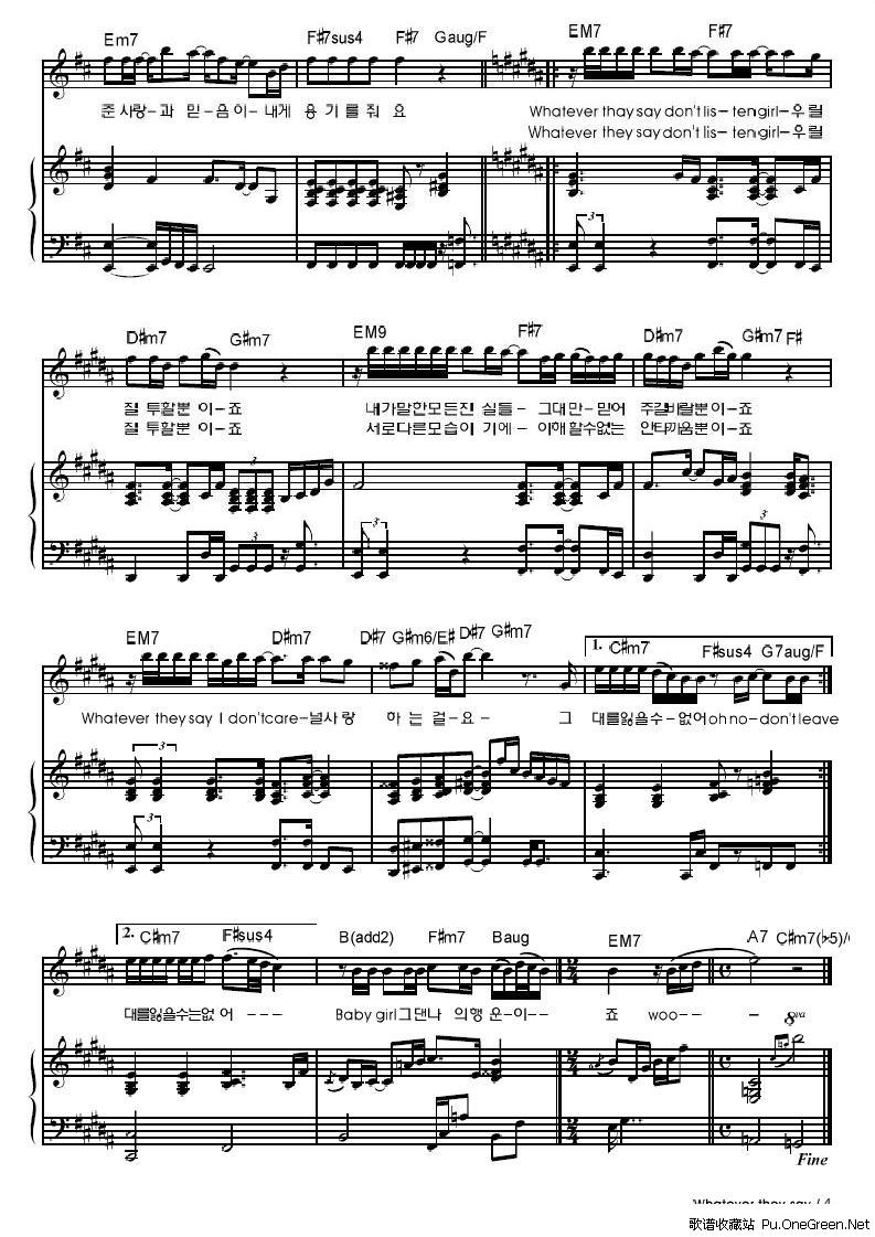one little finger 钢琴曲谱