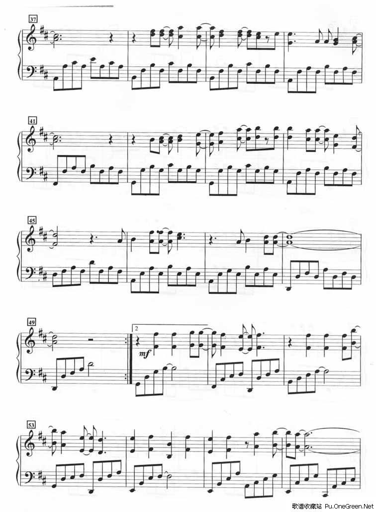 琴棋书画 遇见和弦钢琴歌谱 > 钢琴乐谱_歌谱收藏站