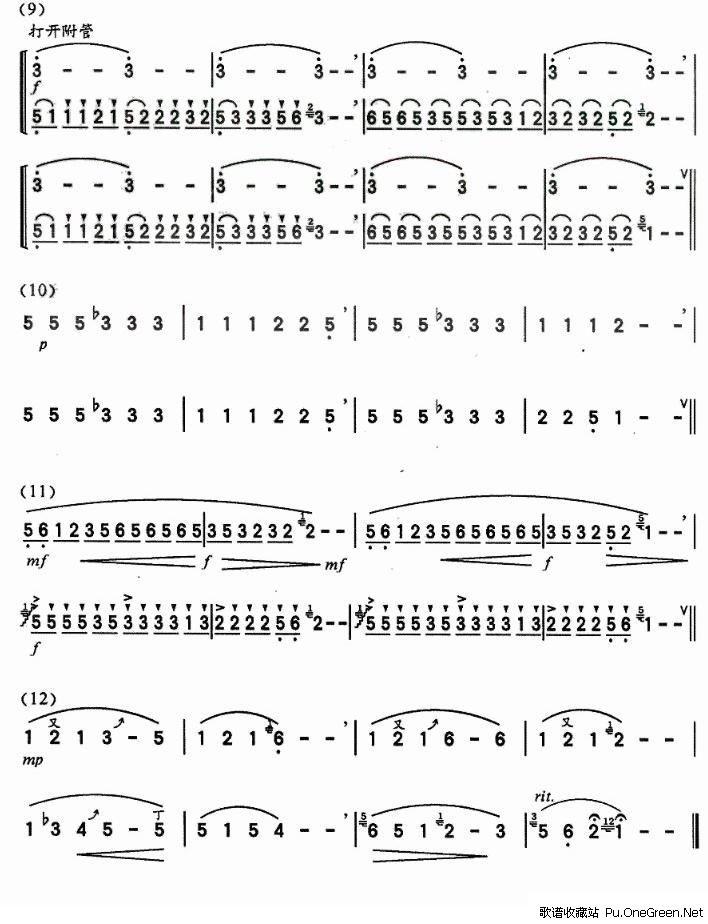 上一首歌谱: 骑兵进行曲