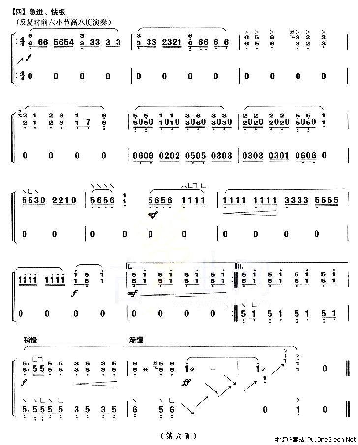 灵歌颂十月恩曲歌谱-演奏本曲和本片中第九首的是朱小萌.1984年毕业于上海音乐学院民乐