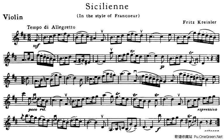 上一首歌谱:荷塘月色-Sicilienne 西西里安舞曲