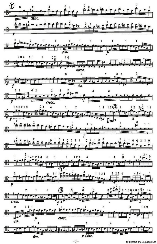 无穷动 大提琴谱