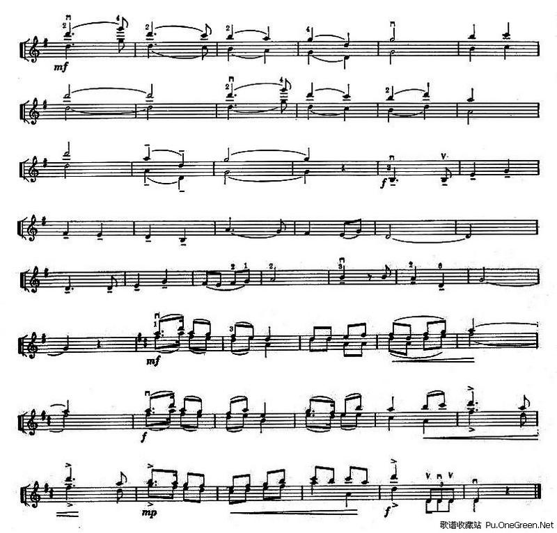 我爱北京天安门 小提琴齐奏