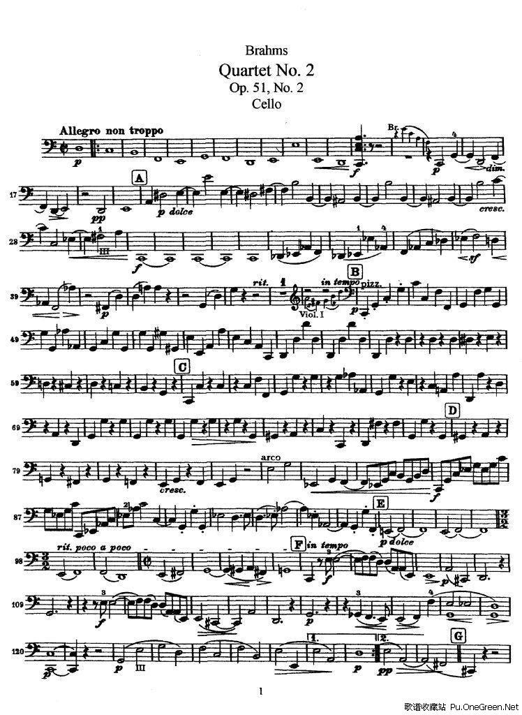 2》op.51(大提琴谱)