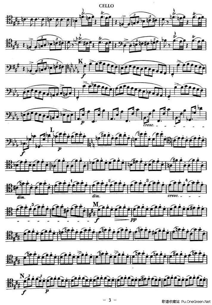 一帘幽梦大提琴曲谱