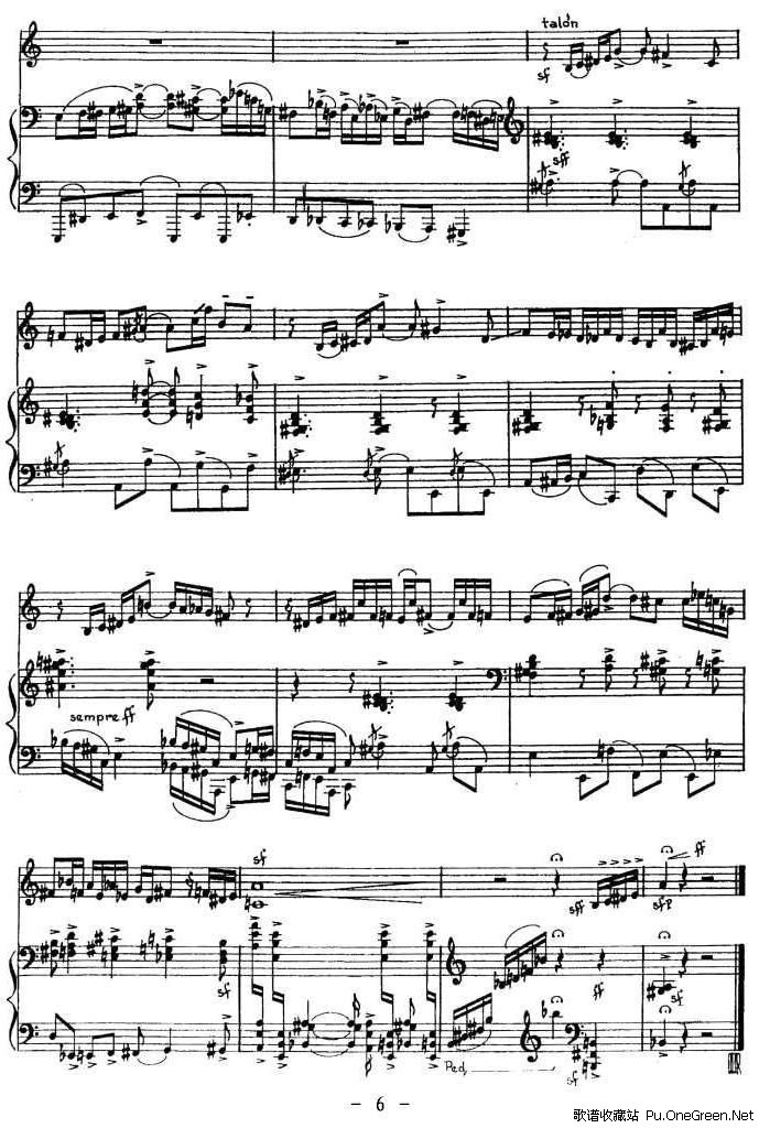 UANO 钢琴伴奏小提琴谱