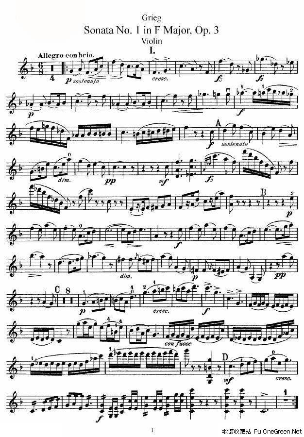 3; 小提琴曲谱贝多芬第五奏鸣曲;