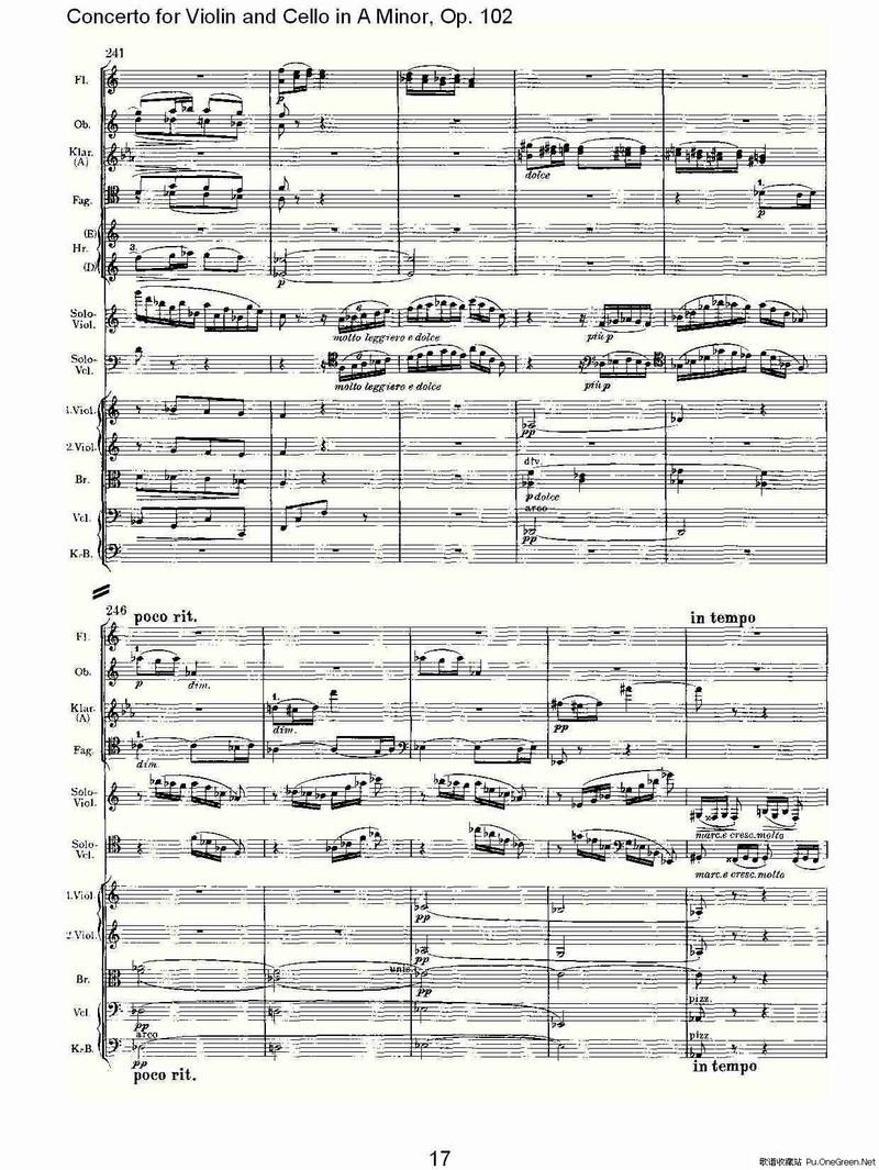 a小调小提琴与大提琴协奏曲, op.102第三乐章