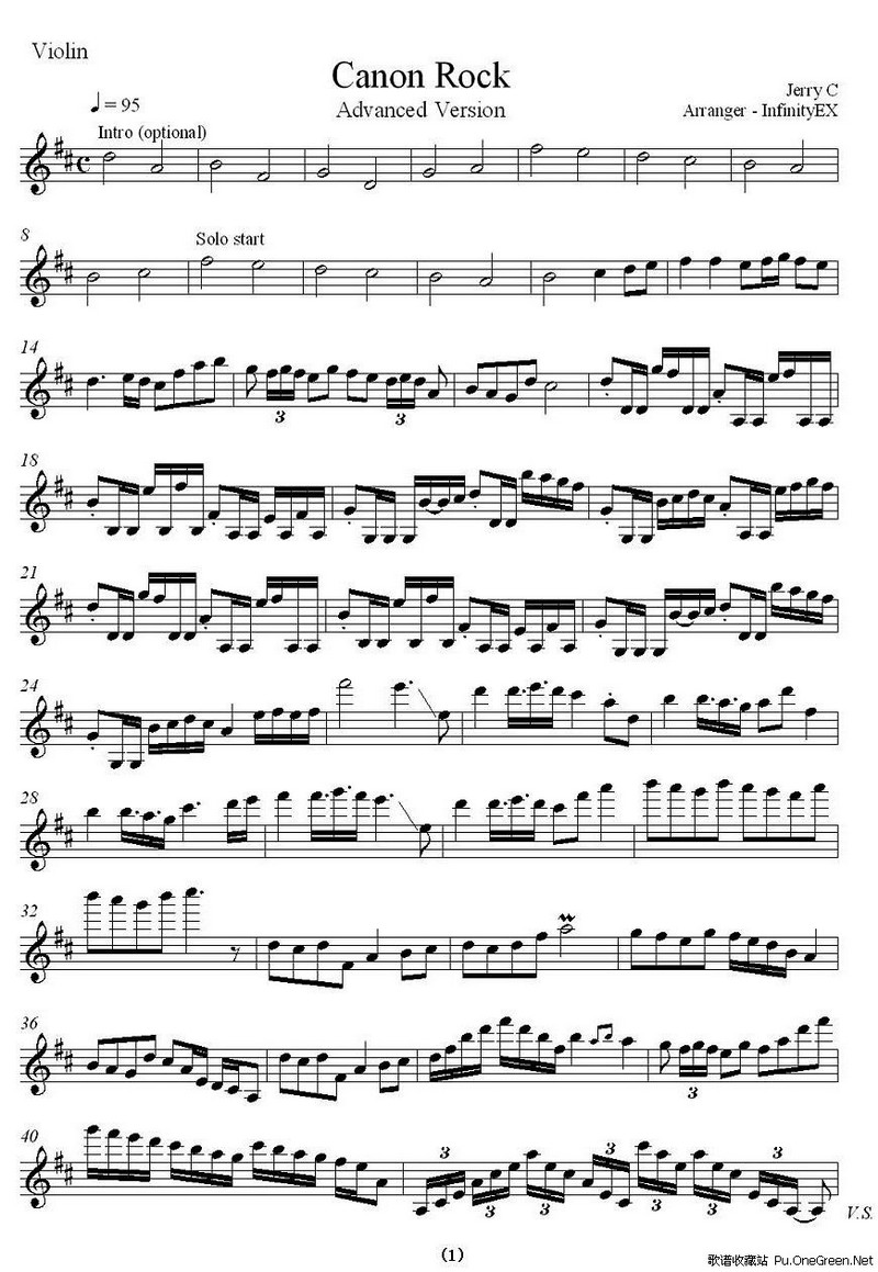 卡农练习曲谱子