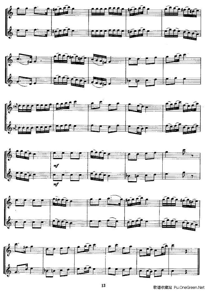 玫瑰人生高音萨克斯谱