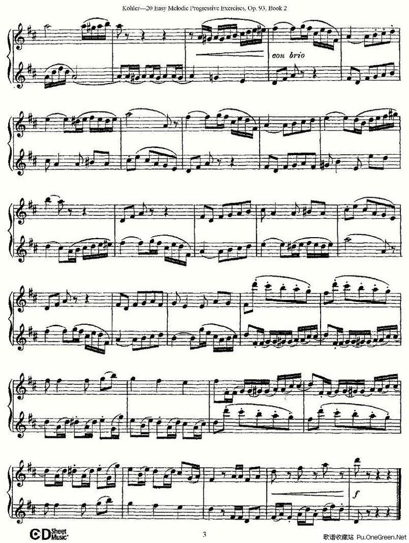 小型练习曲钢琴谱子