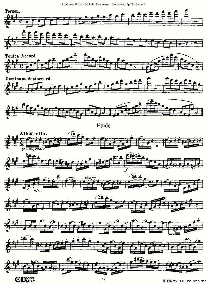 卡农练习曲钢琴谱