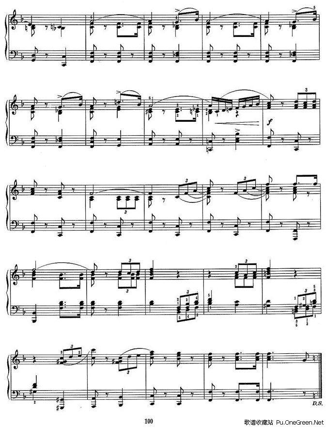 上一首歌谱: 中国民歌主题变奏曲; 运动会组曲一,运动员进行曲_钢琴曲