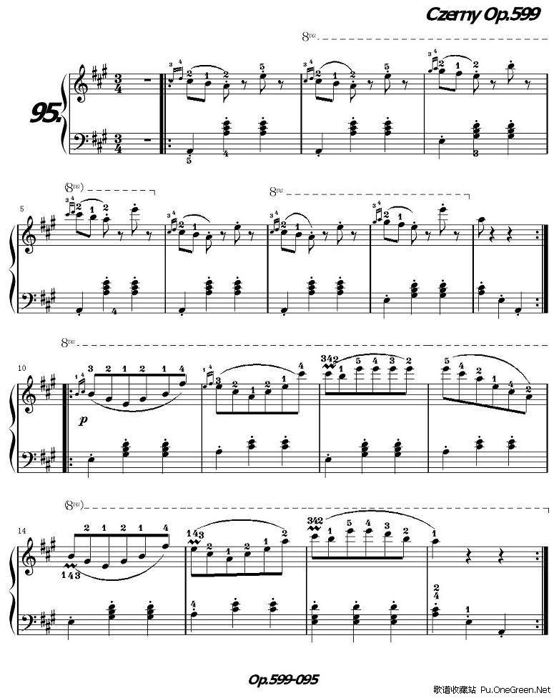 车尔尼599钢琴初级教程44分享展示