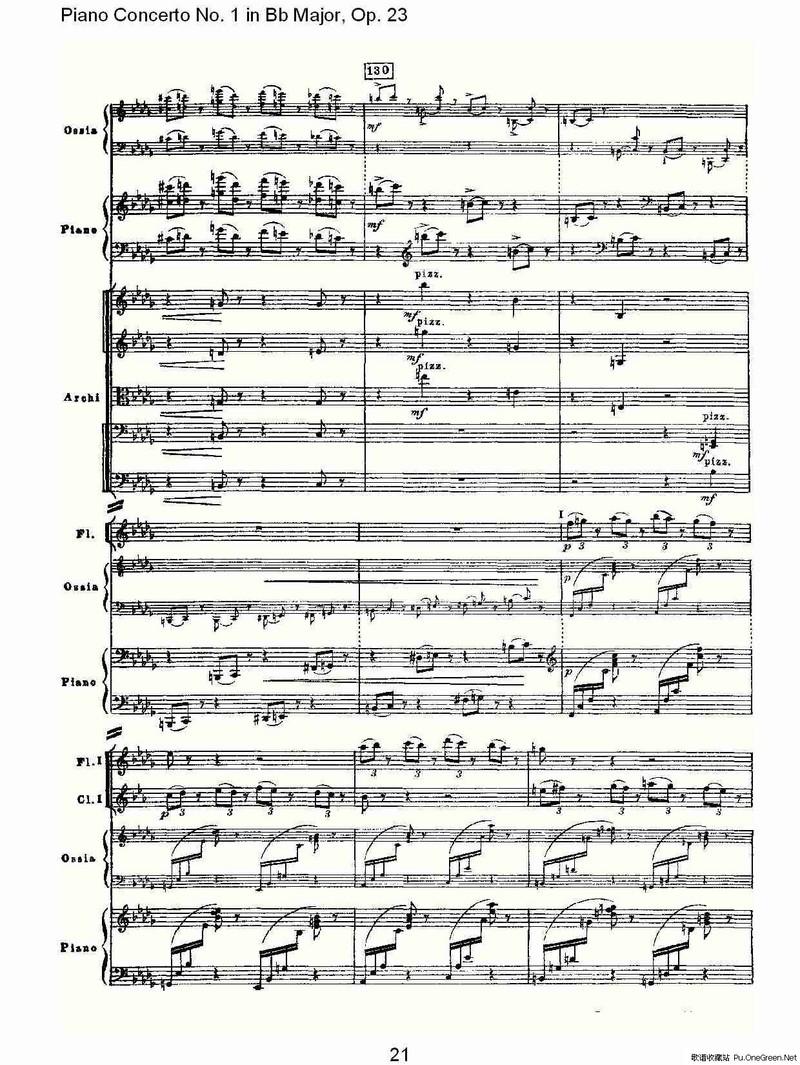 Bb大调第一钢琴协奏曲,Op.23第一乐章第一部 一图片