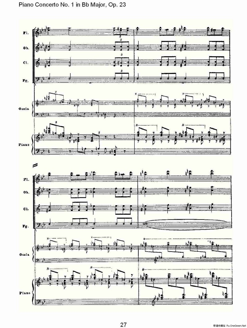 Bb大调第一钢琴协奏曲,Op.23第一乐章第二部 一图片