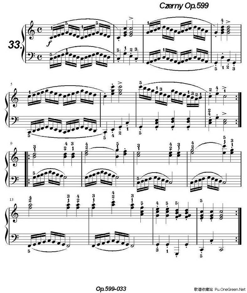 《车尔尼练习曲》op.599之031-040