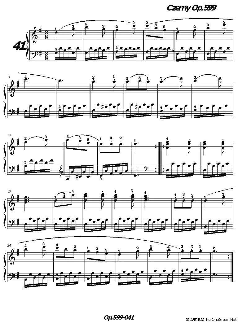 《车尔尼练习曲》op.599之041-050