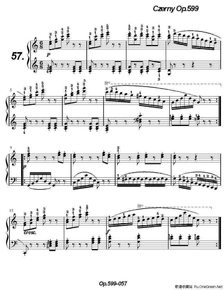 《车尔尼练习曲》op.599之051-060