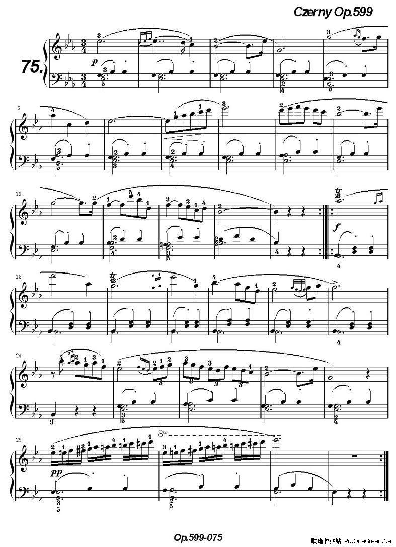 《车尔尼练习曲》op.599之071-080