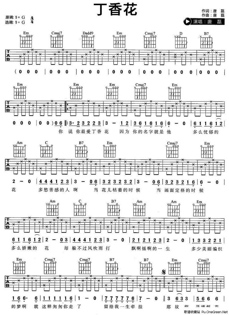 葫芦娃吉他简谱歌谱展示