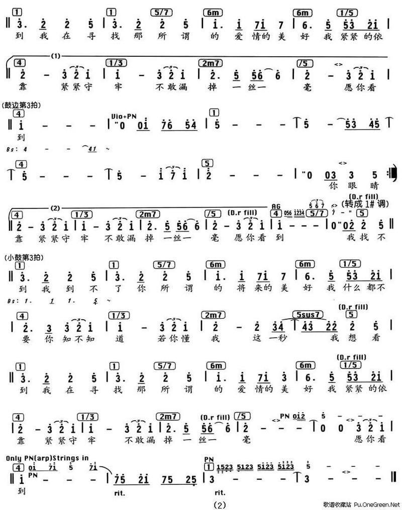 文章内容 >> 就是你歌谱范玮琪  有没有一种软件,就是你输入音符(简谱
