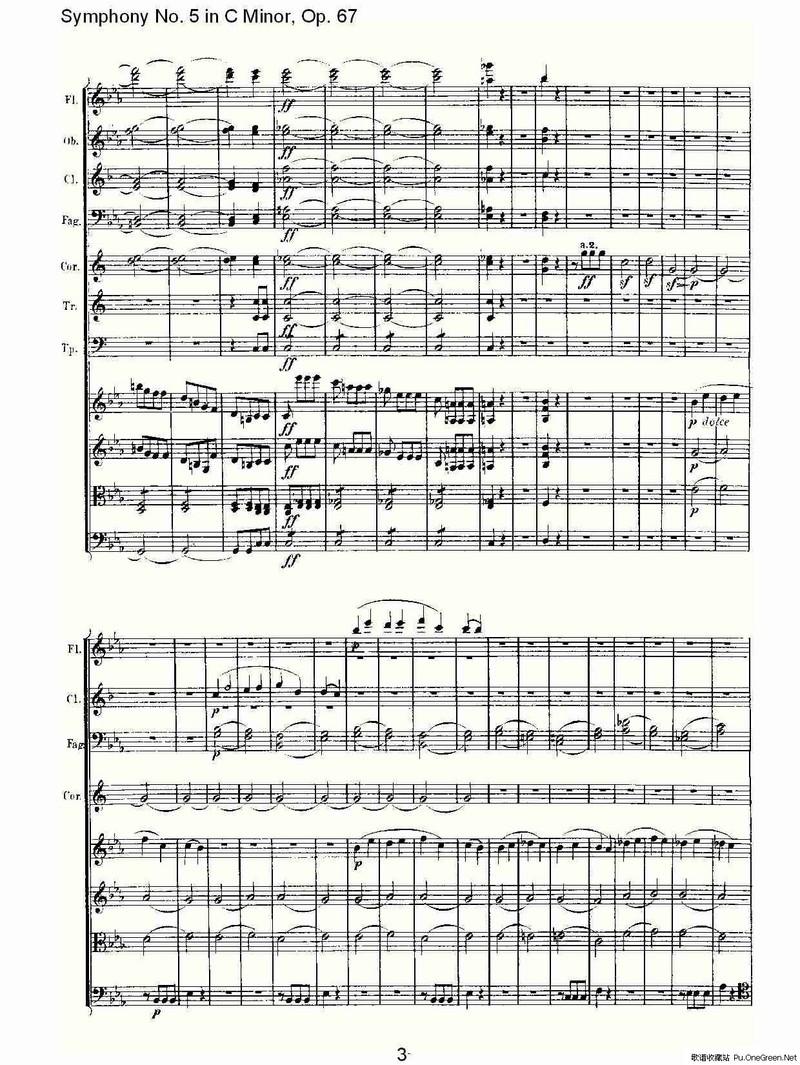 C小调第五交响曲 Op.67第一乐章