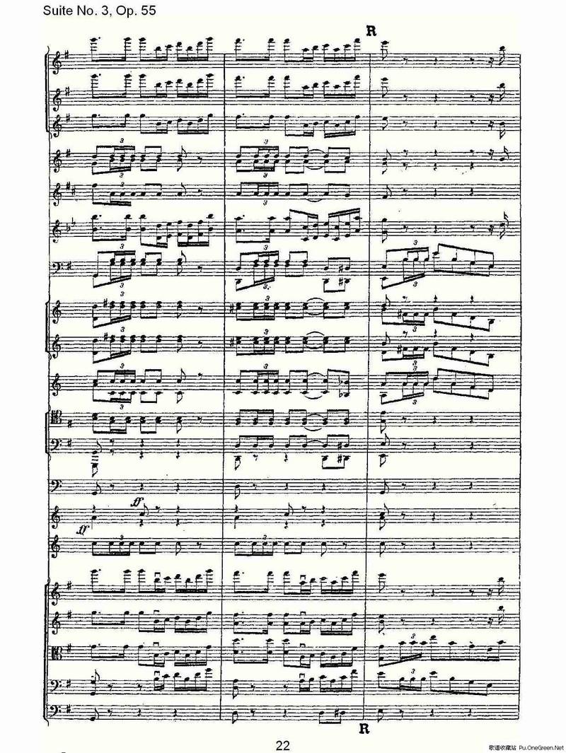 Suite No. 3, Op.55 第三套曲,Op.55第四乐章第二部(一)