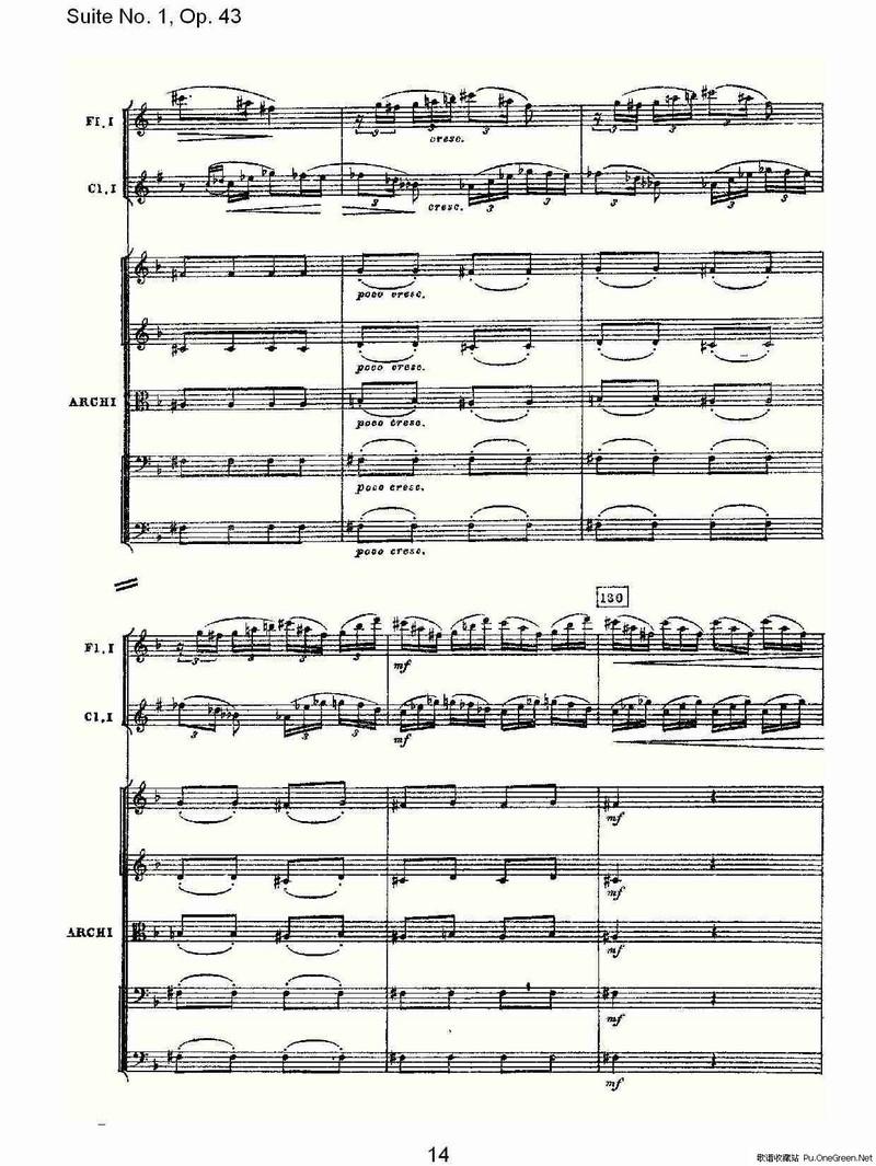 雅歌1章12节歌谱-Suite No.1, Op.43 第一套曲,Op.43第三乐章